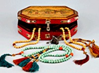 new box of mala beads